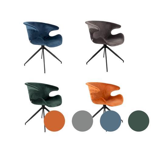 Zuiver Designer-Stuhl Mia Grau