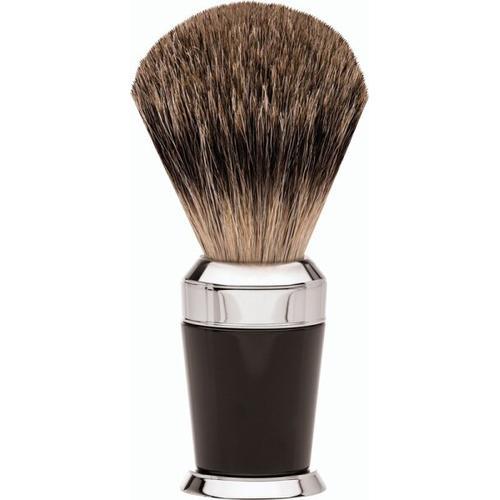 Erbe Shaving Shop Premium Design PARIS Rasierpinsel Dachshaar Edelharz schwarz
