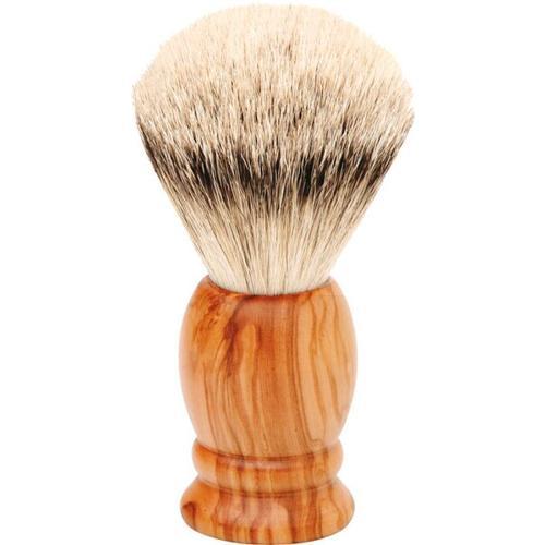 Erbe Shaving Shop Rasierpinsel Olivenholz, Silberspitz
