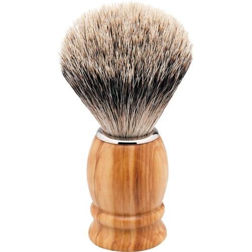 Erbe Shaving Shop Rasierpinsel Olivenholz/silber