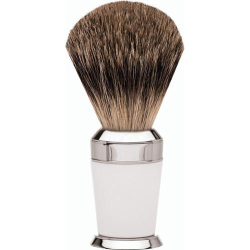 Erbe Shaving Shop Premium Design PARIS Rasierpinsel Dachshaar Edelharz weiß