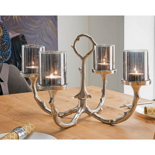 die Faktorei Kerzenständer für 4 Kerzen inkl. 4 Antik-Gläsern