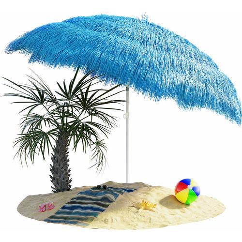 Kingsleeve Sonnenschirm Hawaii Ø160cm Strand Sonnenschirm Gartenschirm Balkonschirm blau - blue