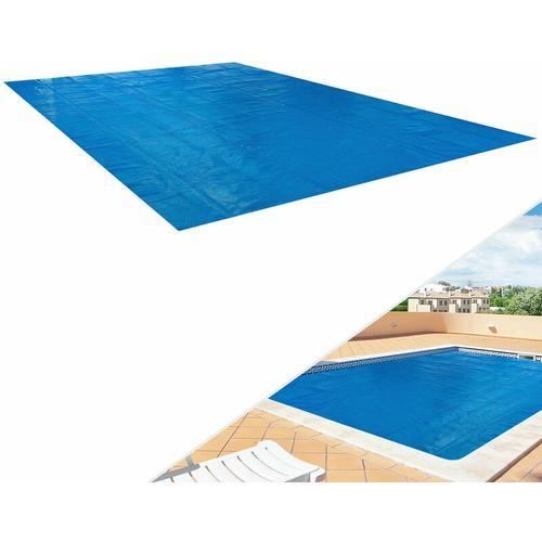 AREBOS Solarfolie Solarplane Solarheizung Wärmeplane Poolheizung blau 400my 4x6m eckig - Azul