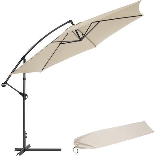 Sonnenschirm Ampelschirm Ø 350cm mit Schutzhülle - Ampelschirm, Sonnenschutz, Gartenschirm - beige