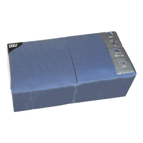 250er-Pack Servietten blau, Papstar, 33x33 cm