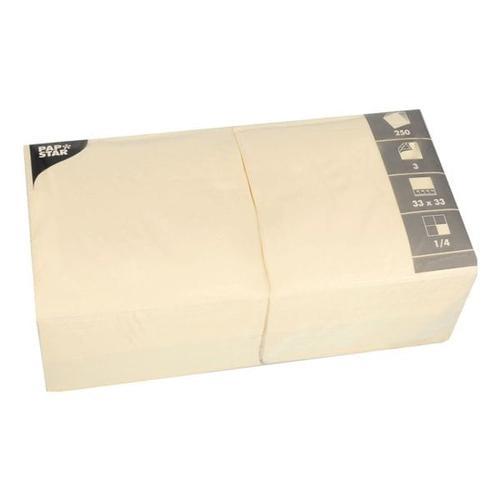 250er-Pack Servietten beige, Papstar, 33x33 cm