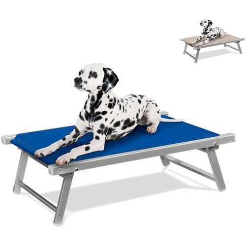 Hundeliege aus Aluminium Hundebett Körbchen für Tiere Doggy | Blau