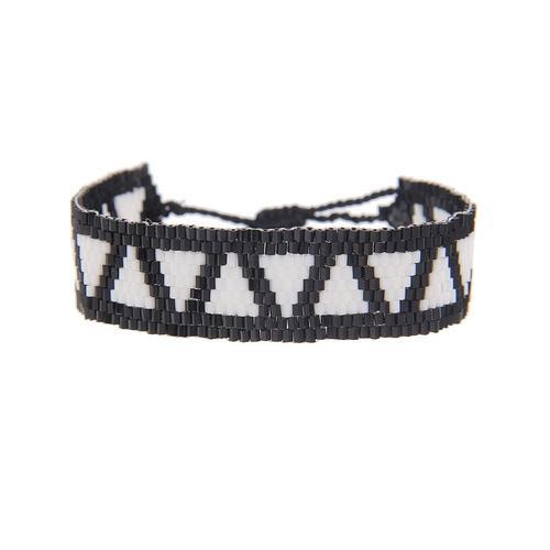 leslii Armband, mit Web-Muster schwarz Damen Armbänder Schmuck Armband