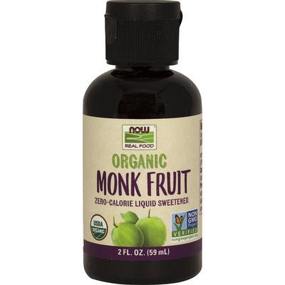 NOW Foods Organic Monk Fruit Sweetener-2 fl oz Liquid