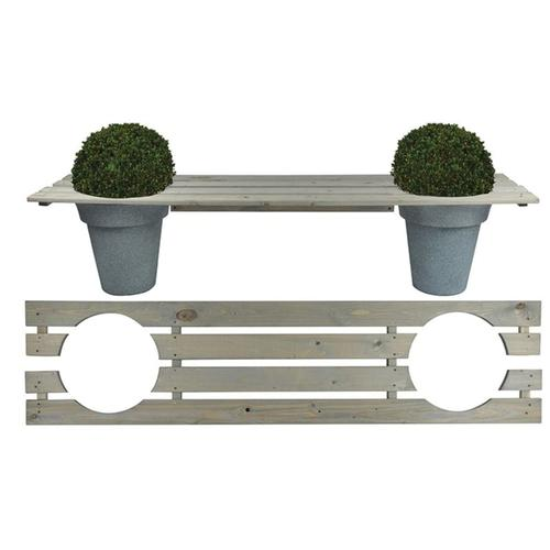 Esschert Design Bank für 2 Blumentöpfe 180 cm NG71