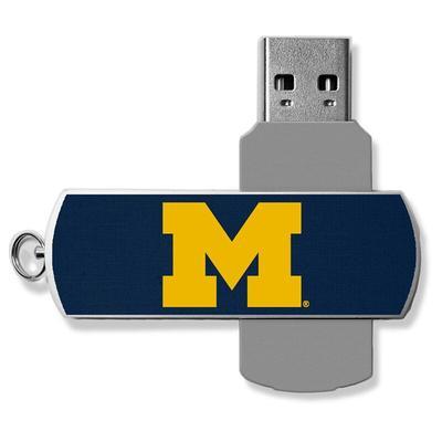 Michigan Wolverines 16GB Metal Twist USB Flash Drive