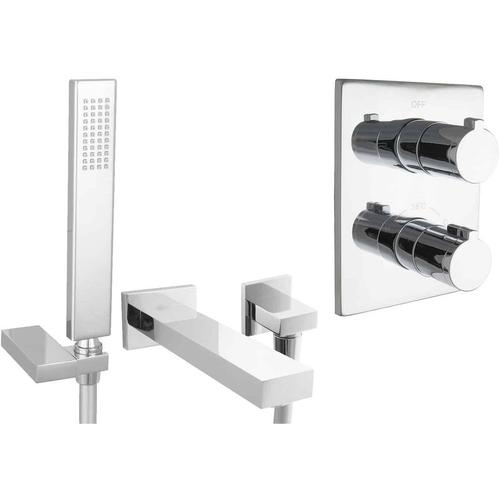 Paulgurkes - Set für Badewannen mit Thermostat Wanneneinlauf
