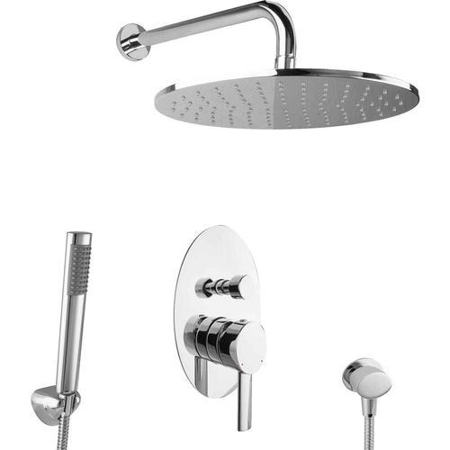 Regendusche Unterputz Dusch Set oval Komplett