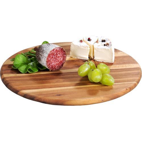 KESPER for kitchen & home Servierbrett, Ø 30 cm beige Servierplatten Geschirr, Porzellan Tischaccessoires Haushaltswaren Servierbrett