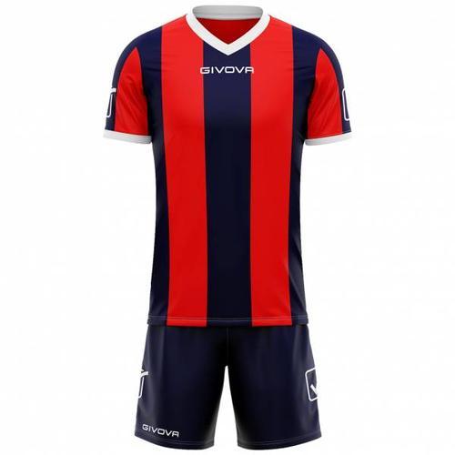 Givova Fußball Set Trikot mit Shorts Kit Catalano navy/rot
