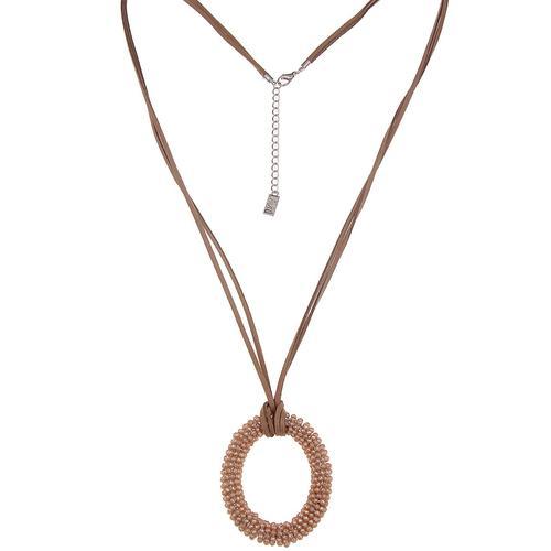 leslii Halskette mit ovalem Anhänger braun Damen Ketten Halsketten Schmuck Modeschmuck (nicht Echtschmuck)