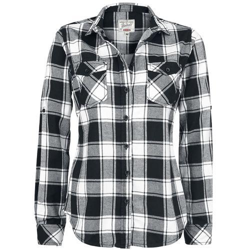 Brandit Amy Flanell Checkshirt Damen-Flanellhemd - schwarz weiß