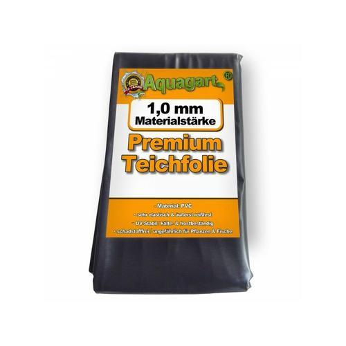 Aquagart - Teichfolie PVC 12m x 2m 1,0mm schwarz Folie für den Gartenteich
