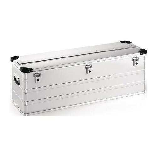 No-Name-Produkt Aluminiumbox L1182xB385xH410mm 163 l mit Klappverschluss und Stapelecken