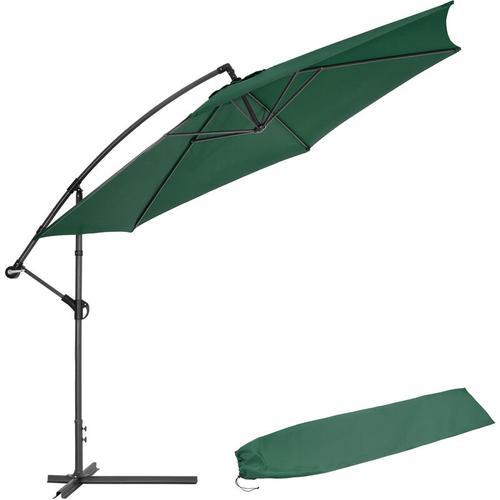 Sonnenschirm Ampelschirm Ø 350cm mit Schutzhülle - Ampelschirm, Sonnenschutz, Gartenschirm - grün