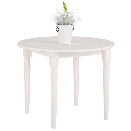 Home affaire Esstisch Jan, in runder Ausführung weiß Holz-Esstische Holztische Tische