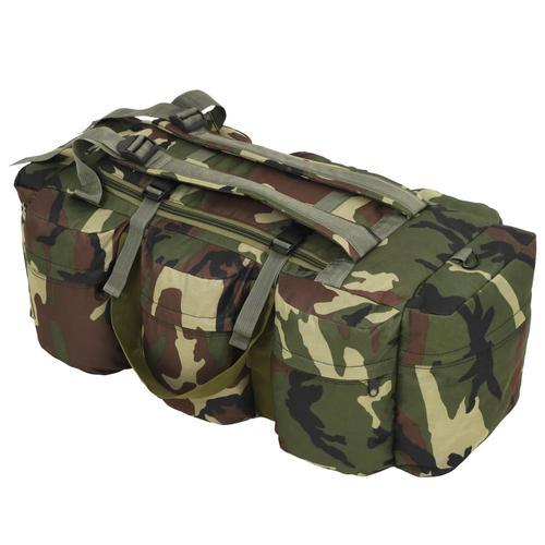 vidaXL Seesack 3-in-1 Armee-Stil 120 L Camouflage