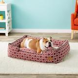 P.L.A.Y. Pet Lifestyle and You Moroccan Bolster Cat & Dog Bed w/Removable Cover, Marsala, Large