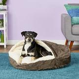 Snoozer Pet Products Microsuede Cozy Cave Dog & Cat Bed, Laurel Mocha, Large