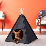 P.L.A.Y. Pet Lifestyle and You Teepee Tent Covered Cat & Dog Bed, Urban Denim
