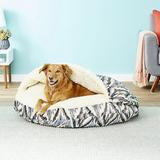 Snoozer Pet Products Microsuede Cozy Cave Dog & Cat Bed, Tempest Indigo, X-Large