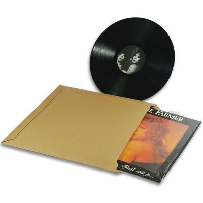 Lot de 500 enveloppes carton vinyle 33 tours format 350x350 mm