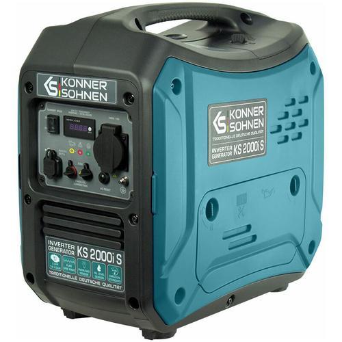 KS 2000i S Invertergenerator. Schalldichtes Gehäuse (64 dB Lpa 7 m). Höchstleistung 2000 Watt, 1x16