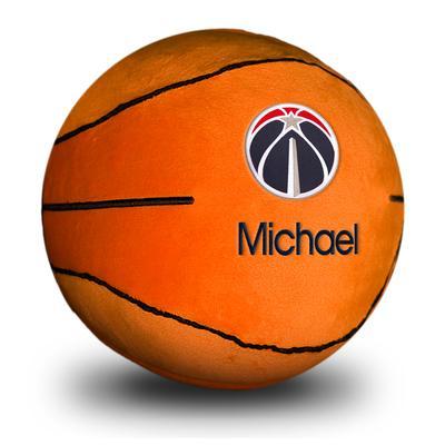 """""""Orange Washington Wizards Personalized Plush Baby Basketball"""""""