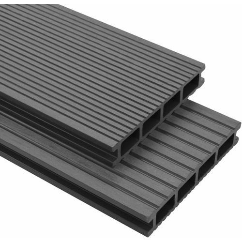 WPC Terrassendielen mit Zubehör 25 m² 4 m Grau