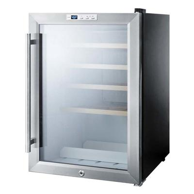 """Summit SCR312LBIWC2 18"""" One Section Wine Cooler w/ (1) Zone, 22 Bottle Capacity, 115v"""