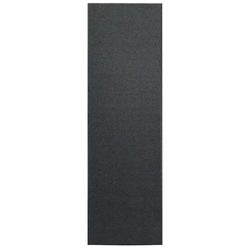 vidaXL Rutschfeste Fußmatte mit Vinyl-Unterseite 1,2 x 10 m Grau