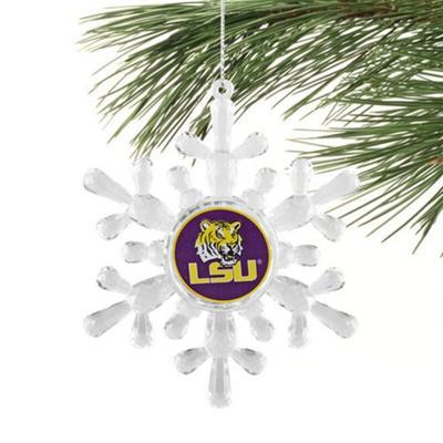 """LSU Tigers Snowflake Ornament"""