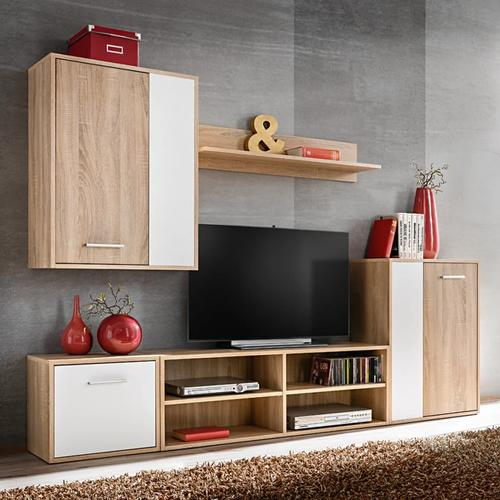 vidaXL 5-tlg. TV-Wohnwand-Set Sonoma Eiche