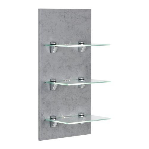 LED-Panel SANTINI beton mit 3 Glasablagen und Beleuchtung