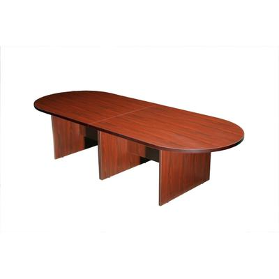Boss Office Products N137-M 10Ft Race Track Conference Table - Mahogany