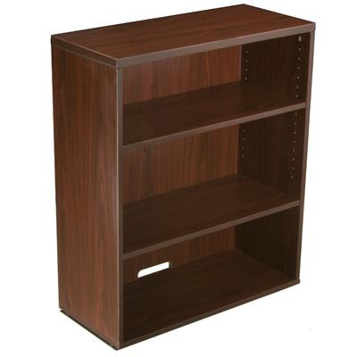 Boss Office Products N153-M Open Hutch/Bookcase in Mahogany