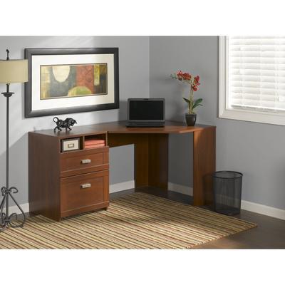 Wheaton Reversible Corner Desk in Hansen Cherry - Bush Furniture MY72813-03