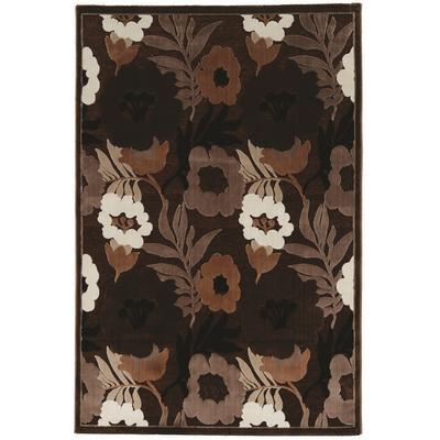 Hi Lo Floral Brown & Beige 2x3 - Linon Home Decor RUGHL0623