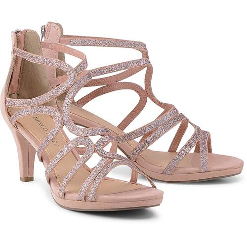 MARCO TOZZI, Glitzer-Sandalette in rosa, Sandalen für Damen Gr. 39