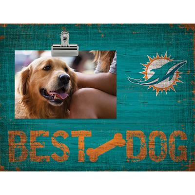 "Miami Dolphins 10.5"" x 8"" Best Dog Clip Photo Frame"