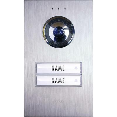 Station extérieure d'Interphone vidéo filaire 2 foyers m-e modern-electronics VDV 620 compact acier