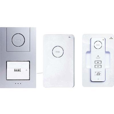 Set complet dInterphone DECT, radio 1 foyer m-e modern-electronics 40941 blanc, argent