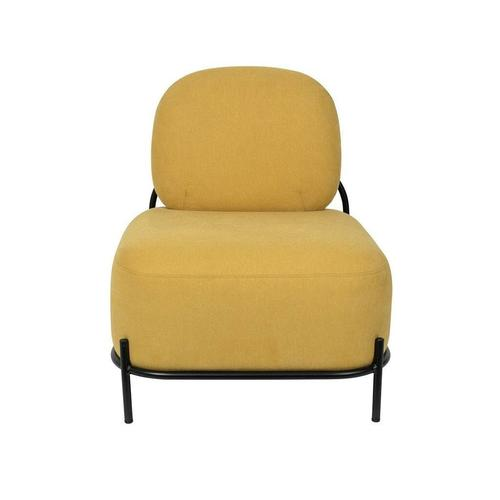 White Label Living Polly Lounge Sessel Retro Look in Gelb