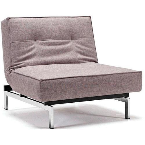 INNOVATION LIVING ™ Sessel Splitback, mit chromglänzenden Beinen, in skandinavischen Design grau Schlafsessel